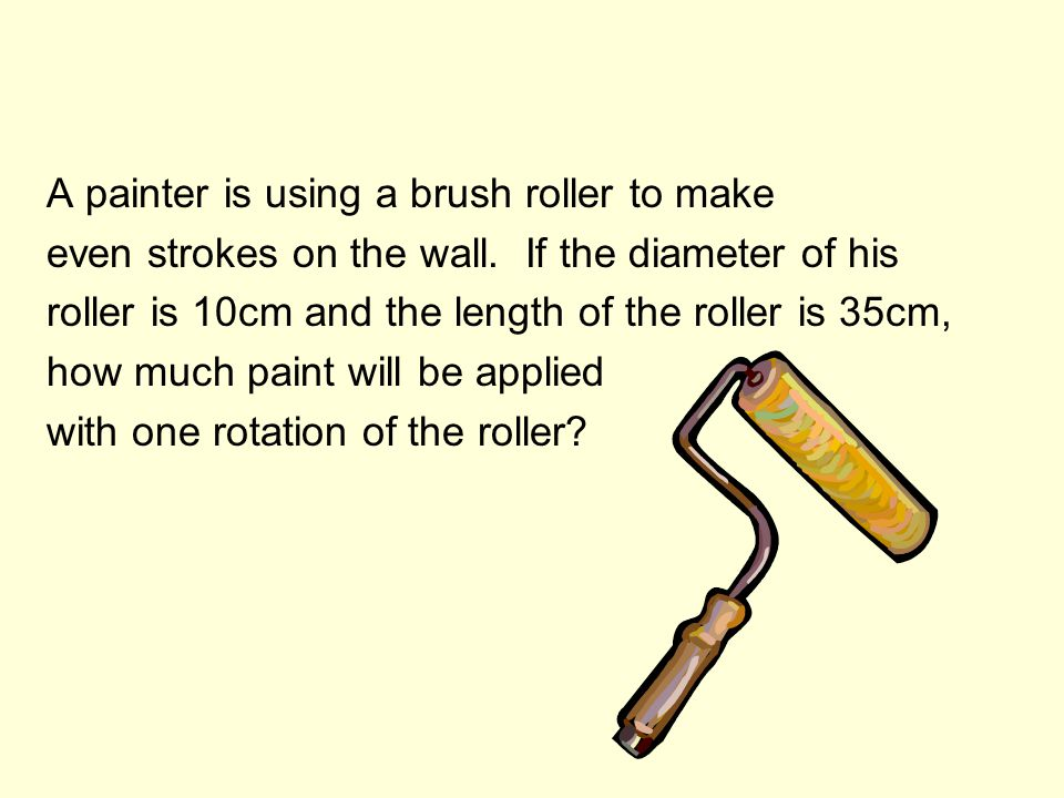 A painter is using a brush roller to make