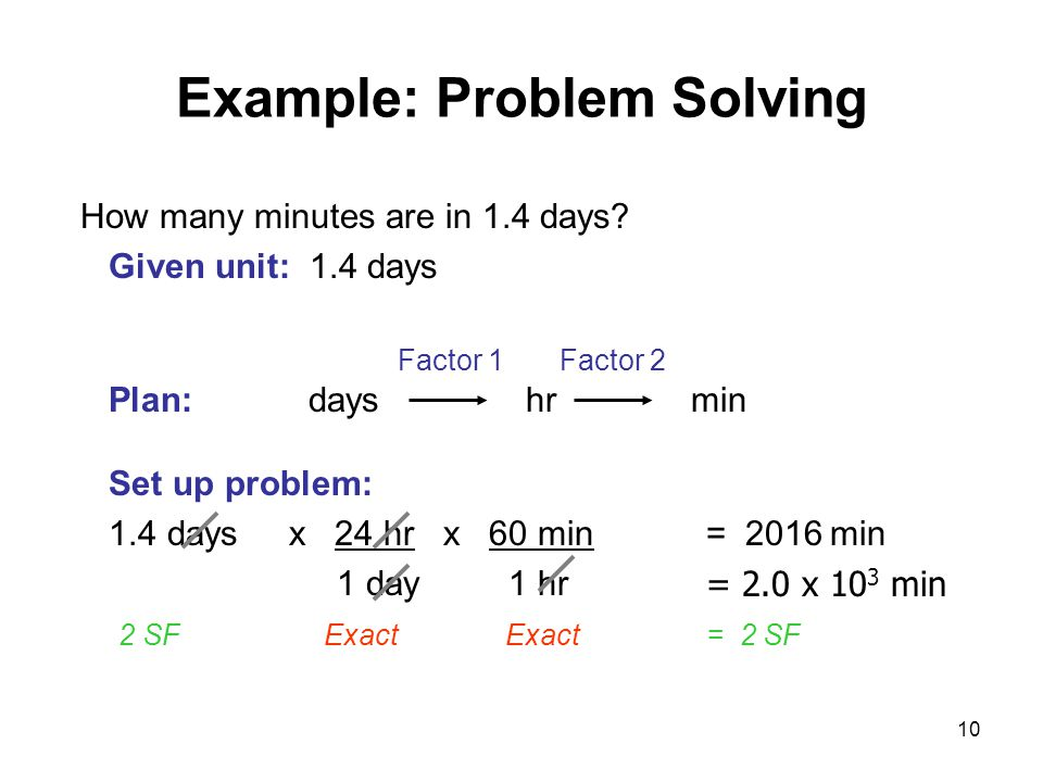 Example: Problem Solving