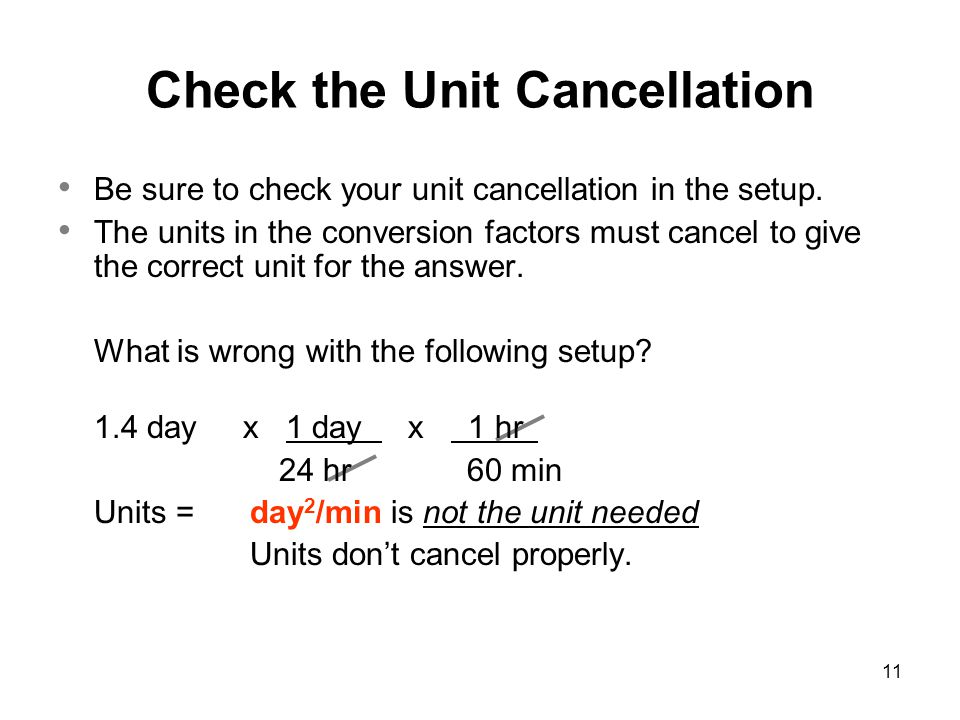 Check the Unit Cancellation