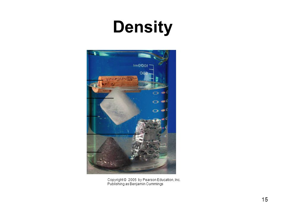 Density Copyright © 2005 by Pearson Education, Inc.
