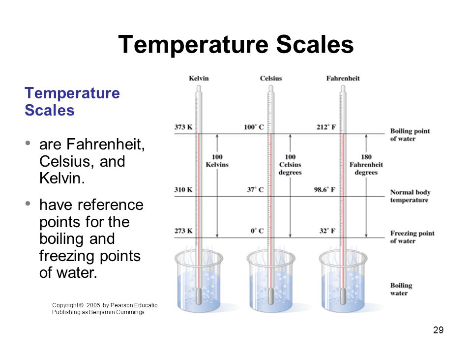 Temperature Scales Temperature Scales