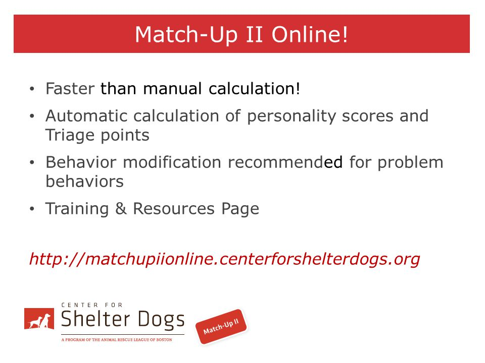 Match-Up II Online! Faster than manual calculation!