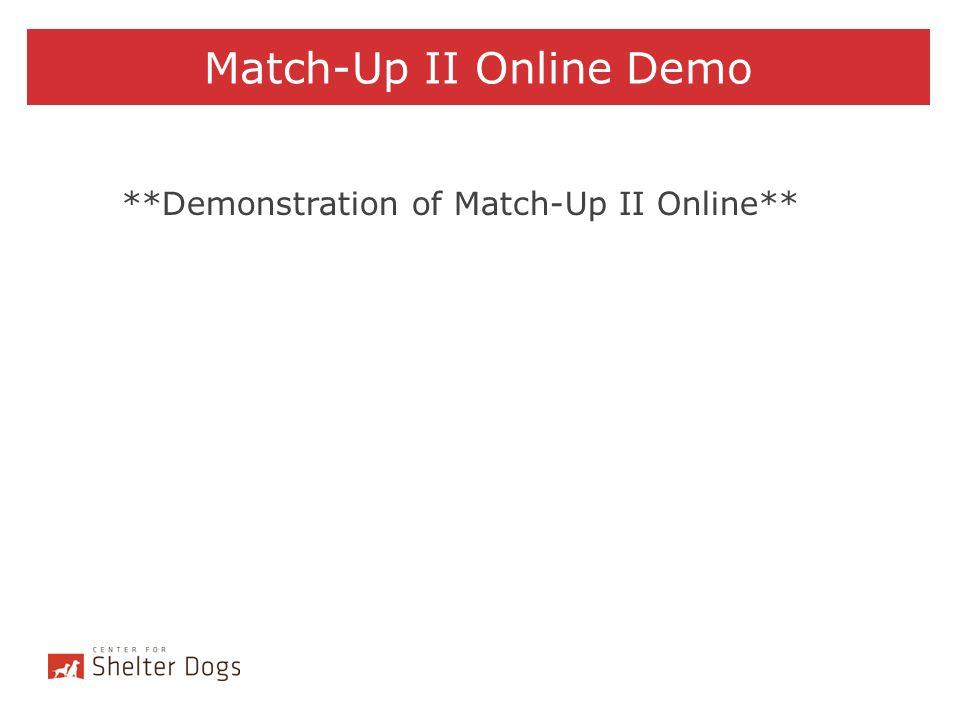 Match-Up II Online Demo