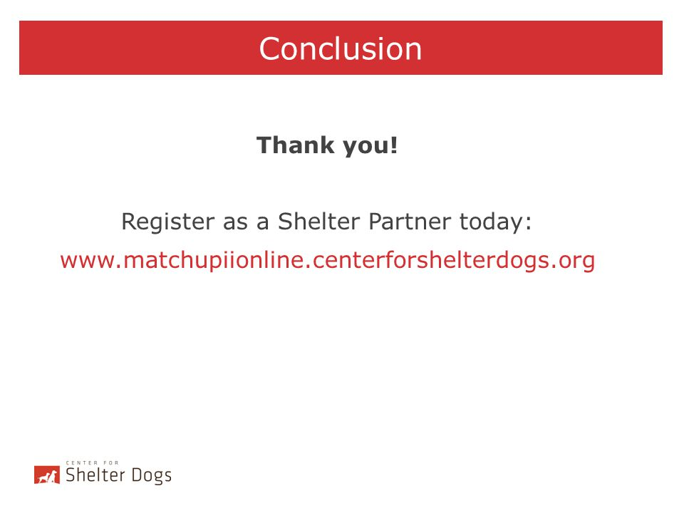 Register as a Shelter Partner today: