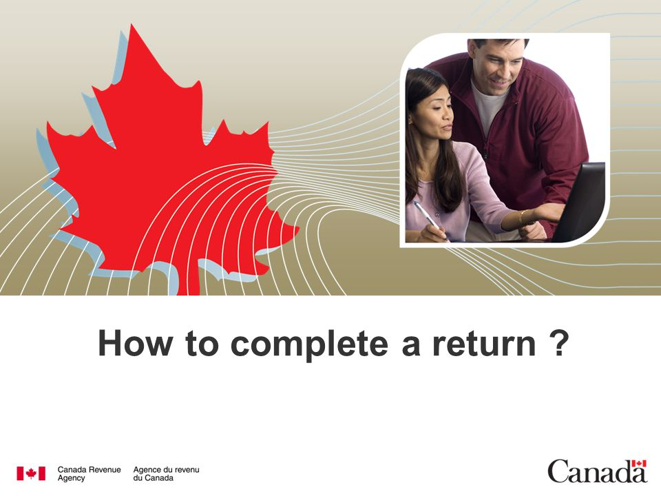 How to complete a return