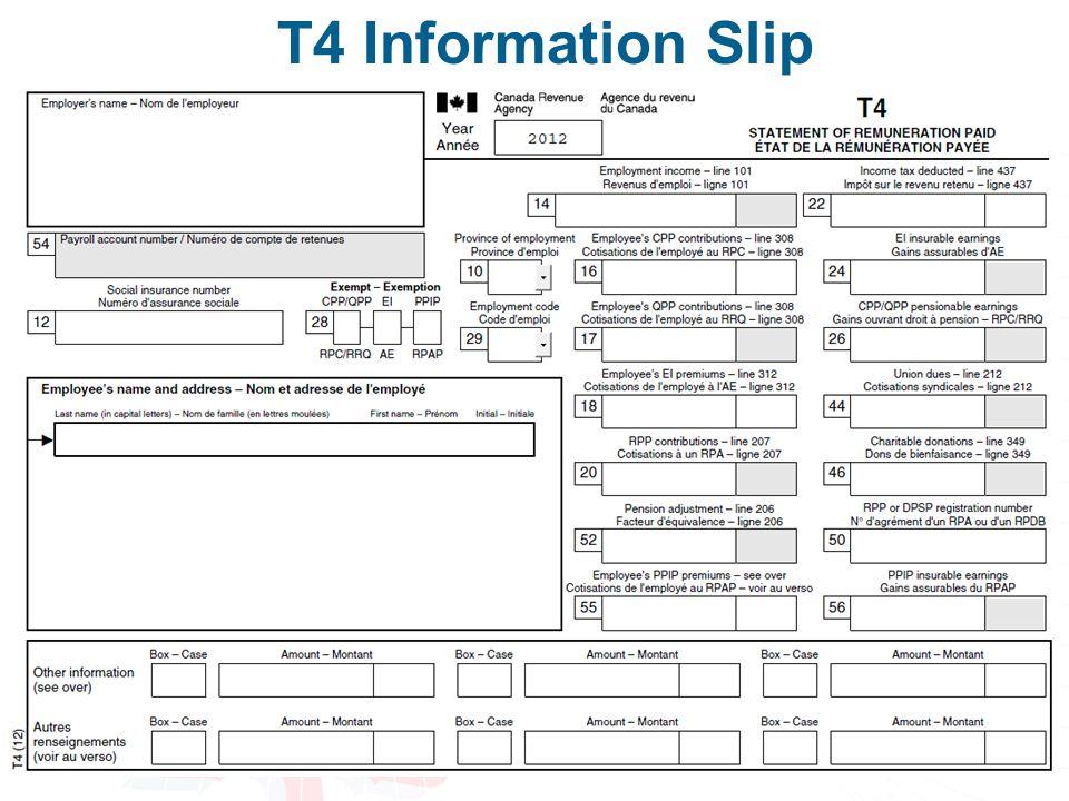 T4 Information Slip