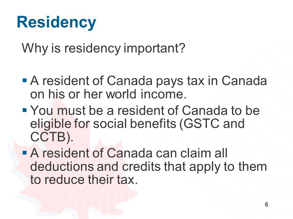 Residency Why is residency important