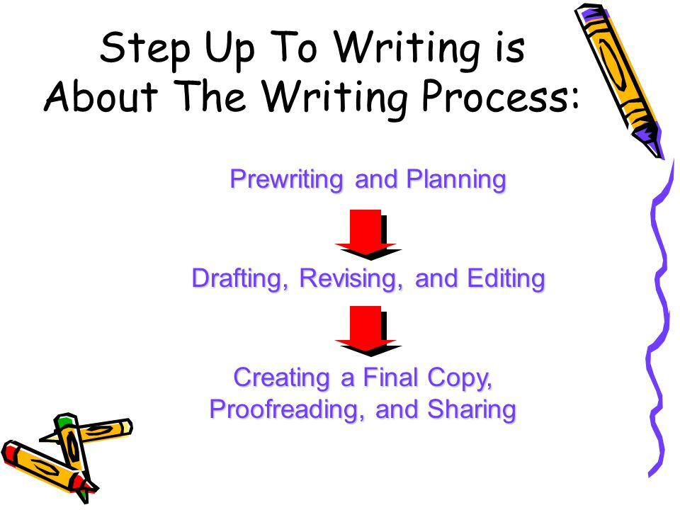 step up writing