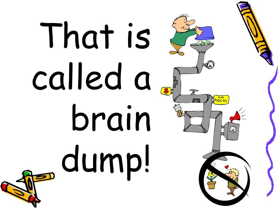 That is called a brain dump!