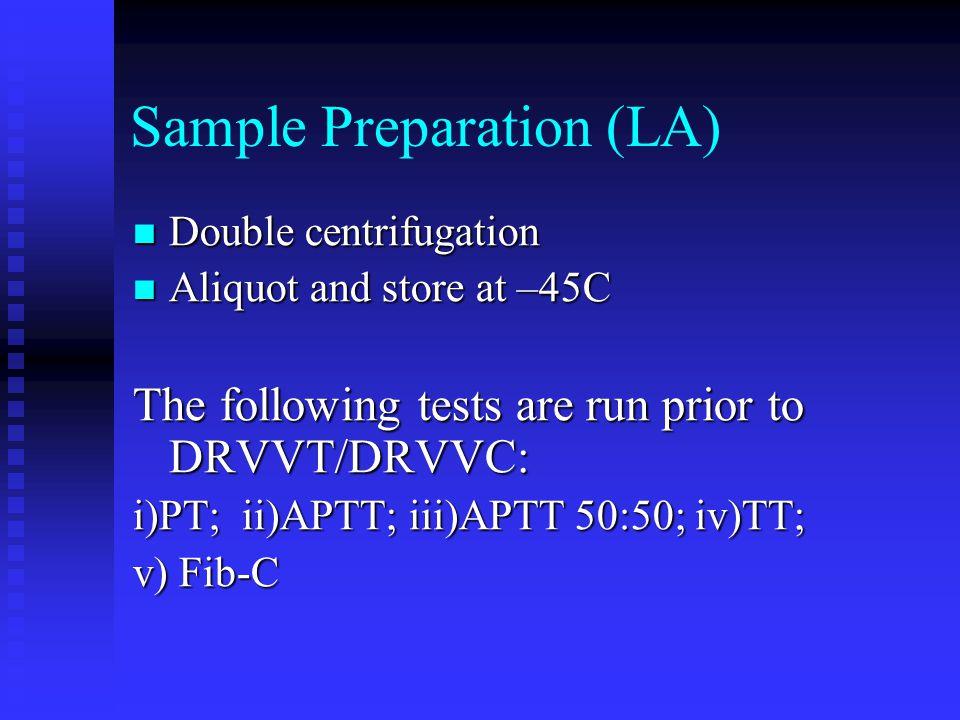 Sample Preparation (LA)