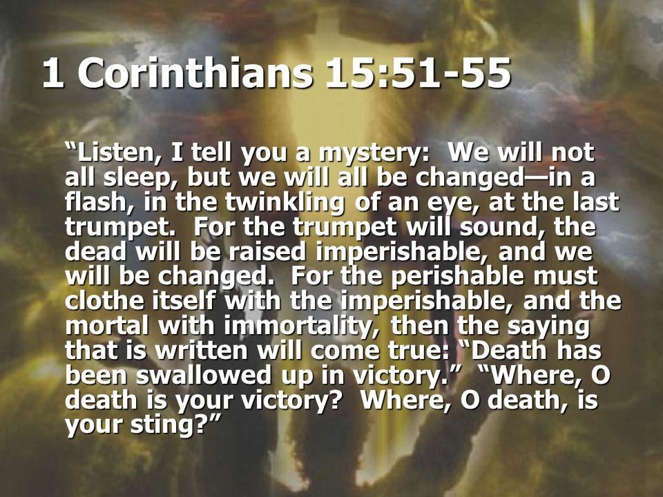 1 Corinthians 15:51-55