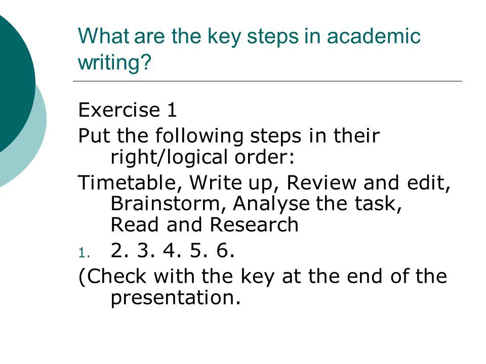 What are the key steps in academic writing