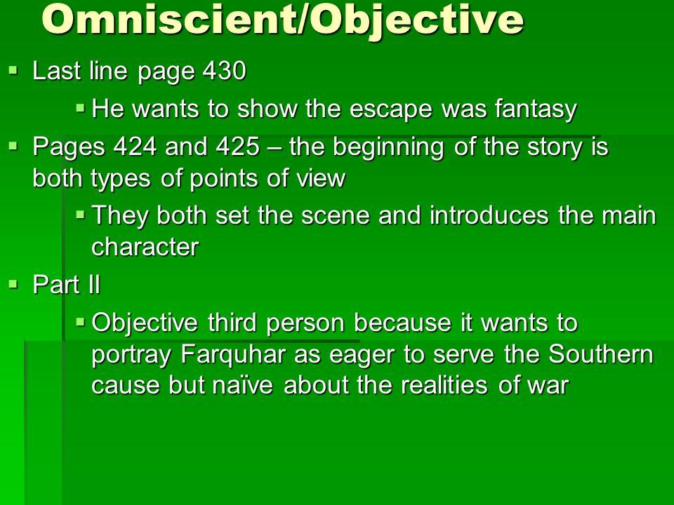 Omniscient/Objective