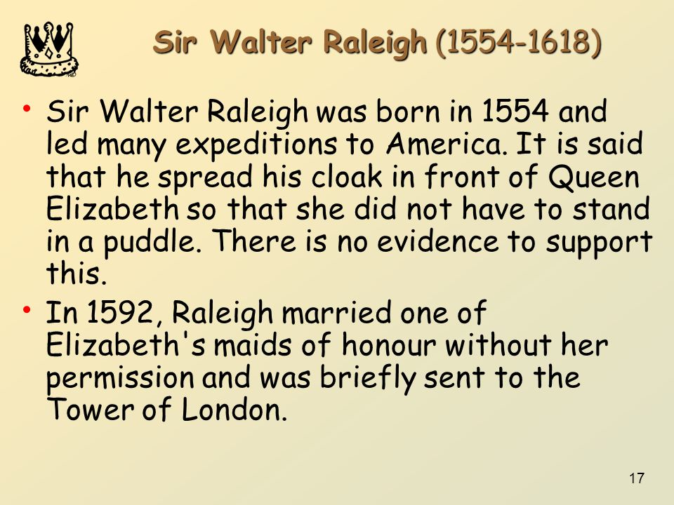 Sir Walter Raleigh (1554-1618)