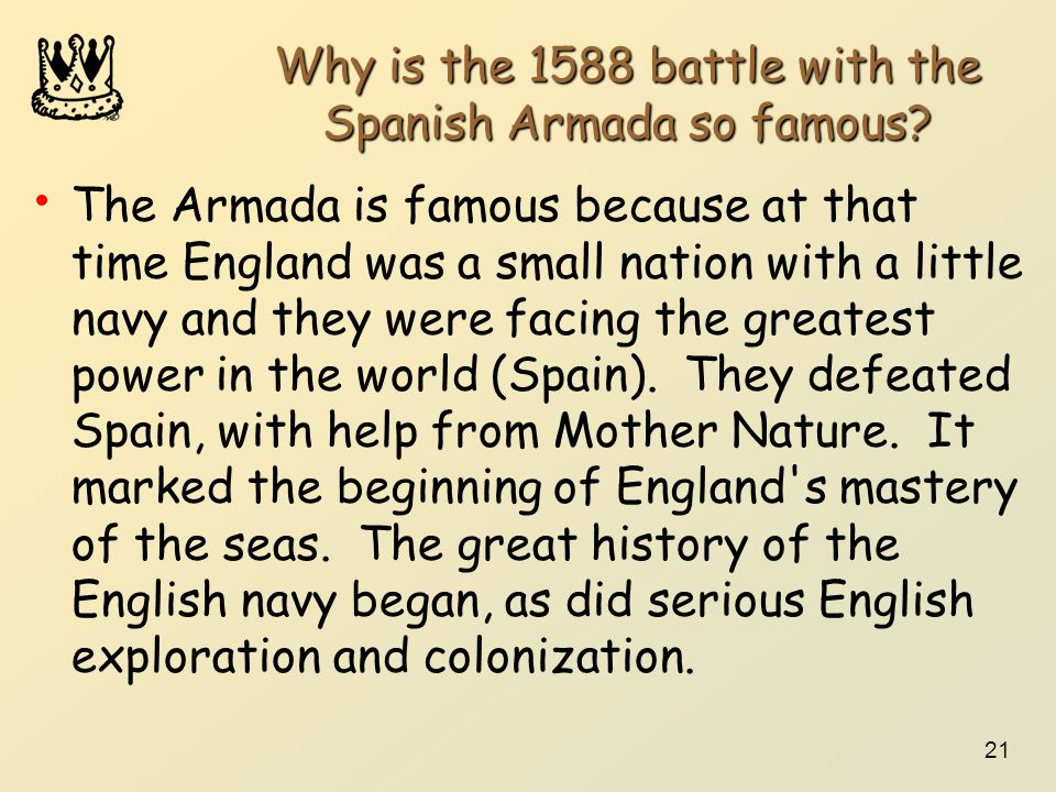 Why is the 1588 battle with the Spanish Armada so famous