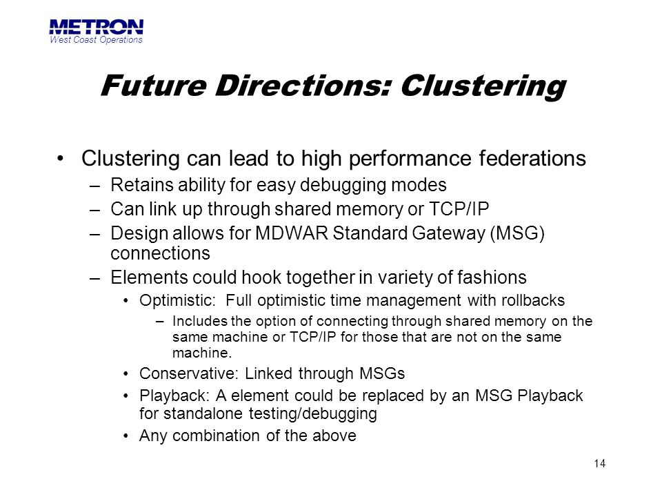 Future Directions: Clustering