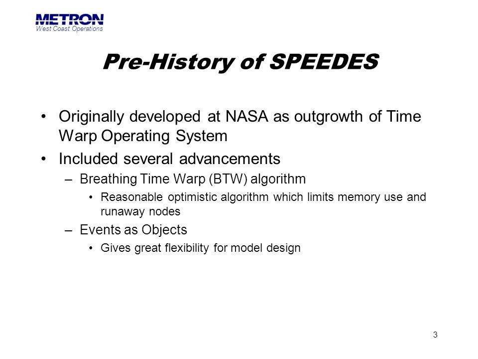 Pre-History of SPEEDES
