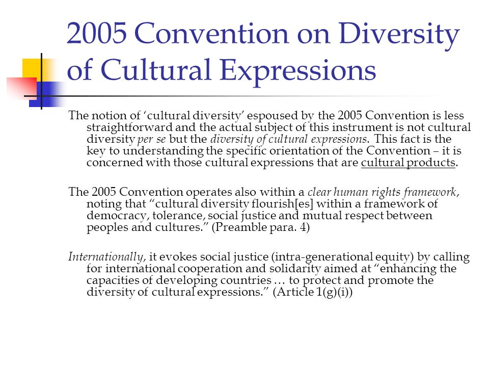 2005 Convention on Diversity of Cultural Expressions