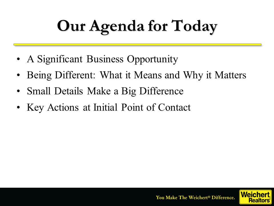 Our Agenda for Today A Significant Business Opportunity