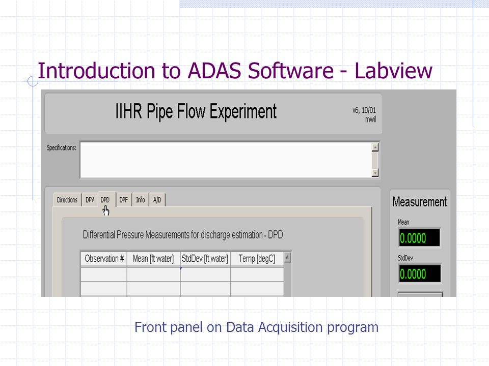 Introduction to ADAS Software - Labview