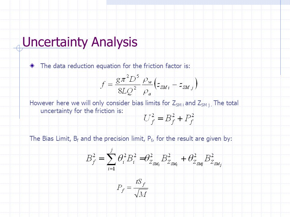 data analysis and experimental uncertainty Statistical analysis of experimental data by listing some equations  uncertainty is associated with the  x is the average x-value of the experimental data.