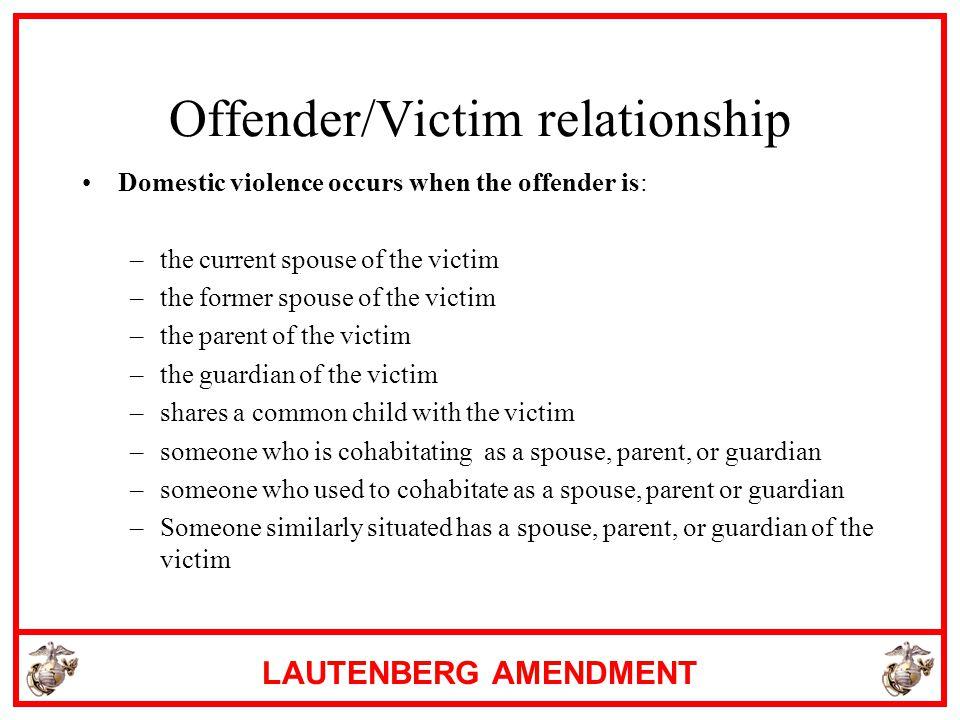 Offender/Victim relationship