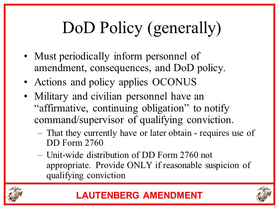DoD Policy (generally)