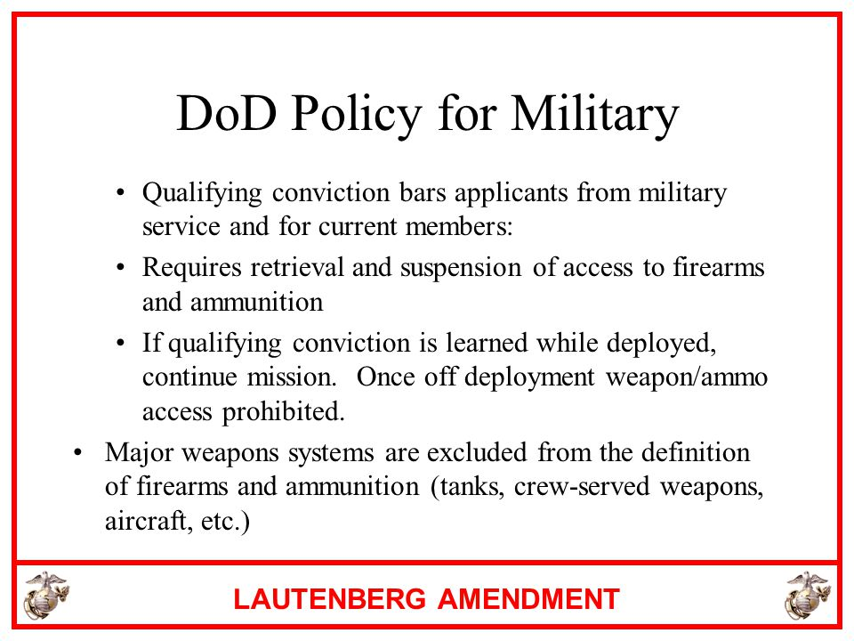 DoD Policy for Military