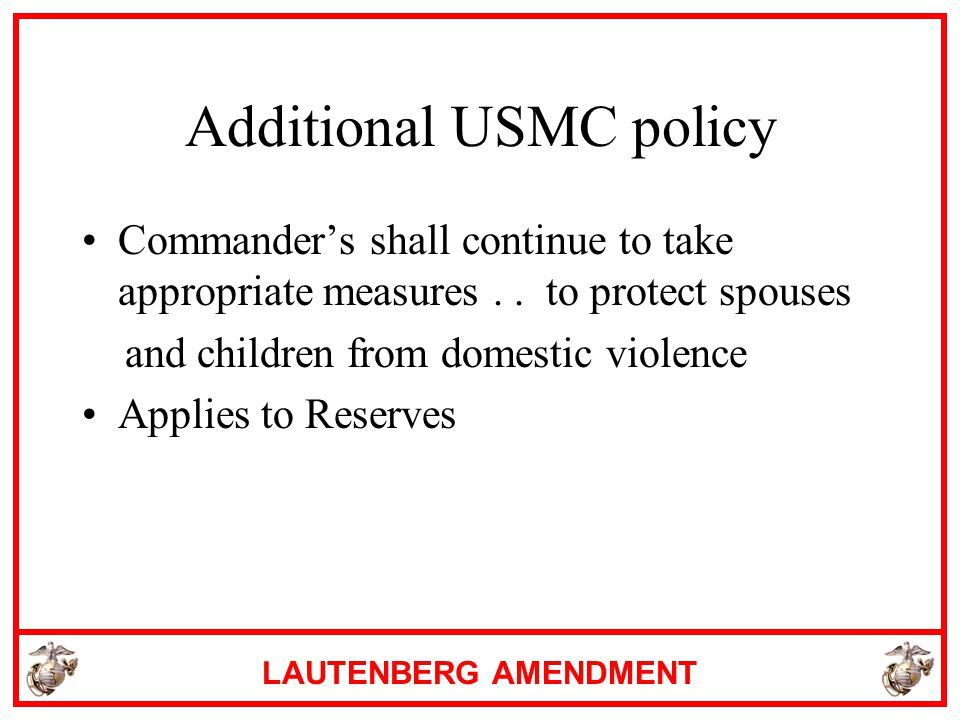 Additional USMC policy