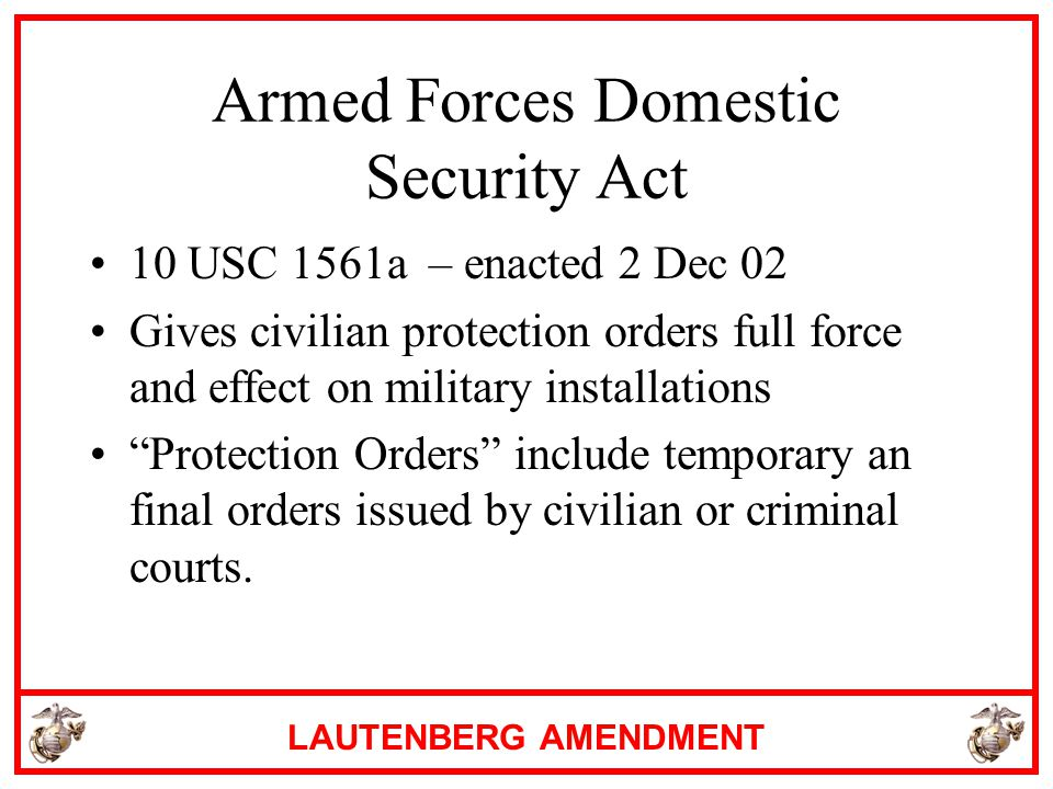 Armed Forces Domestic Security Act