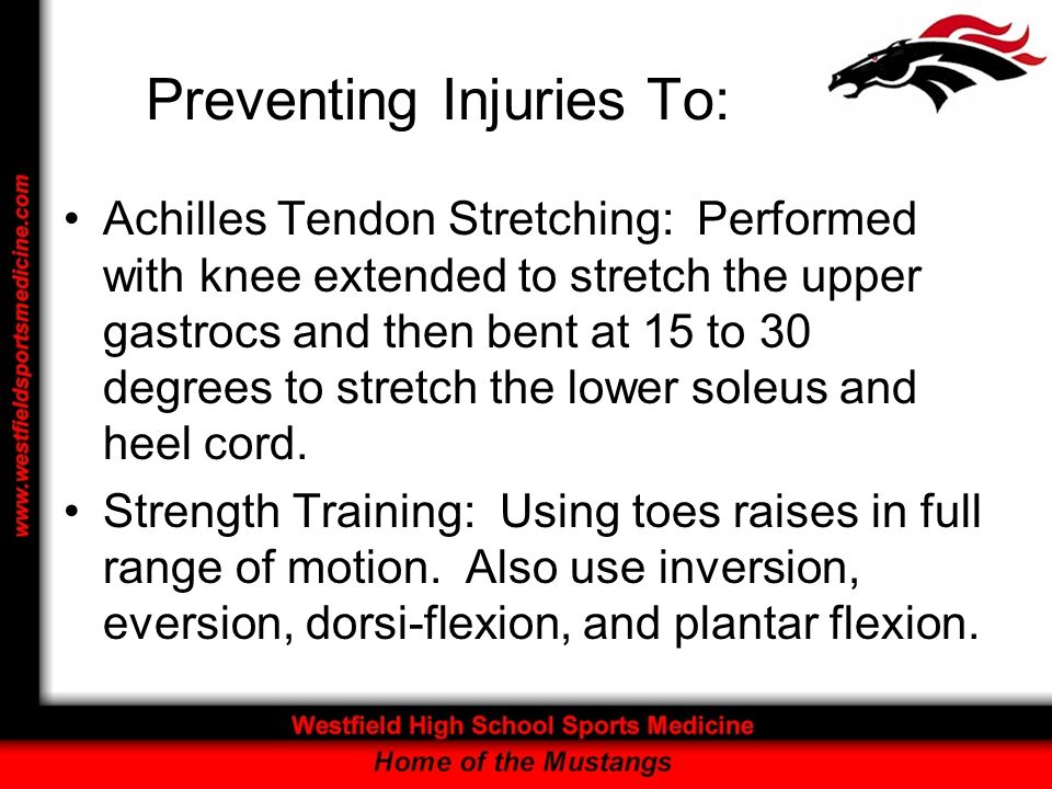 Preventing Injuries To: