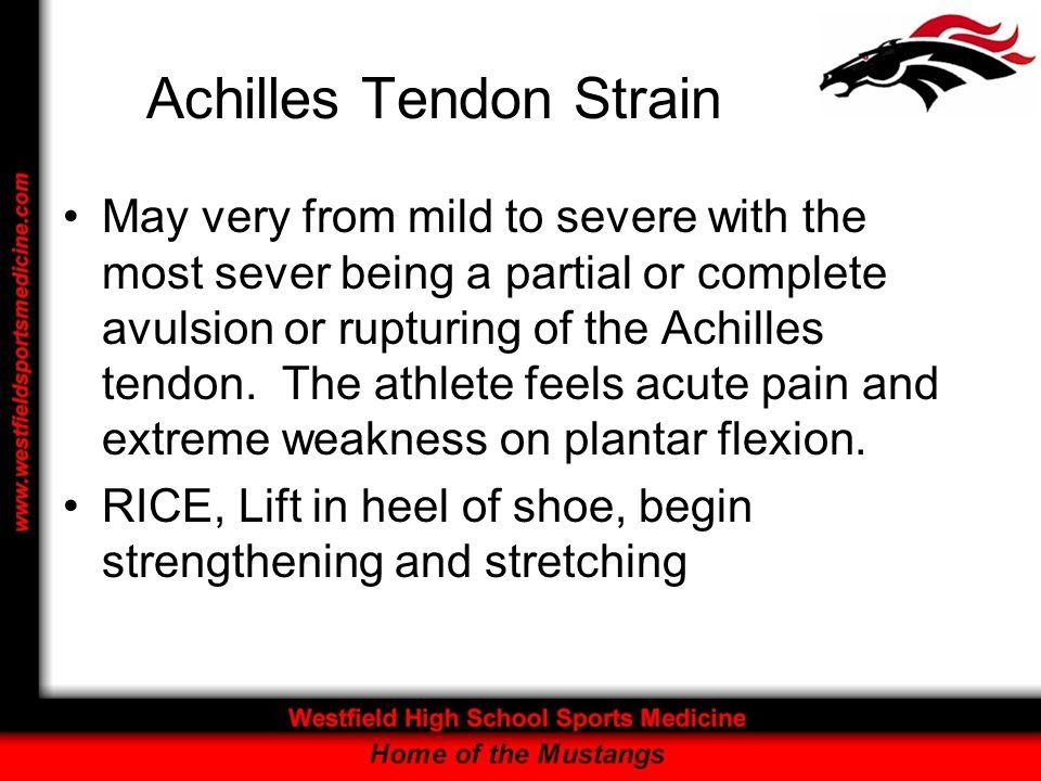 Achilles Tendon Strain
