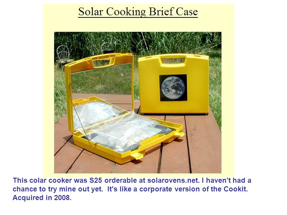 This colar cooker was S25 orderable at solarovens. net