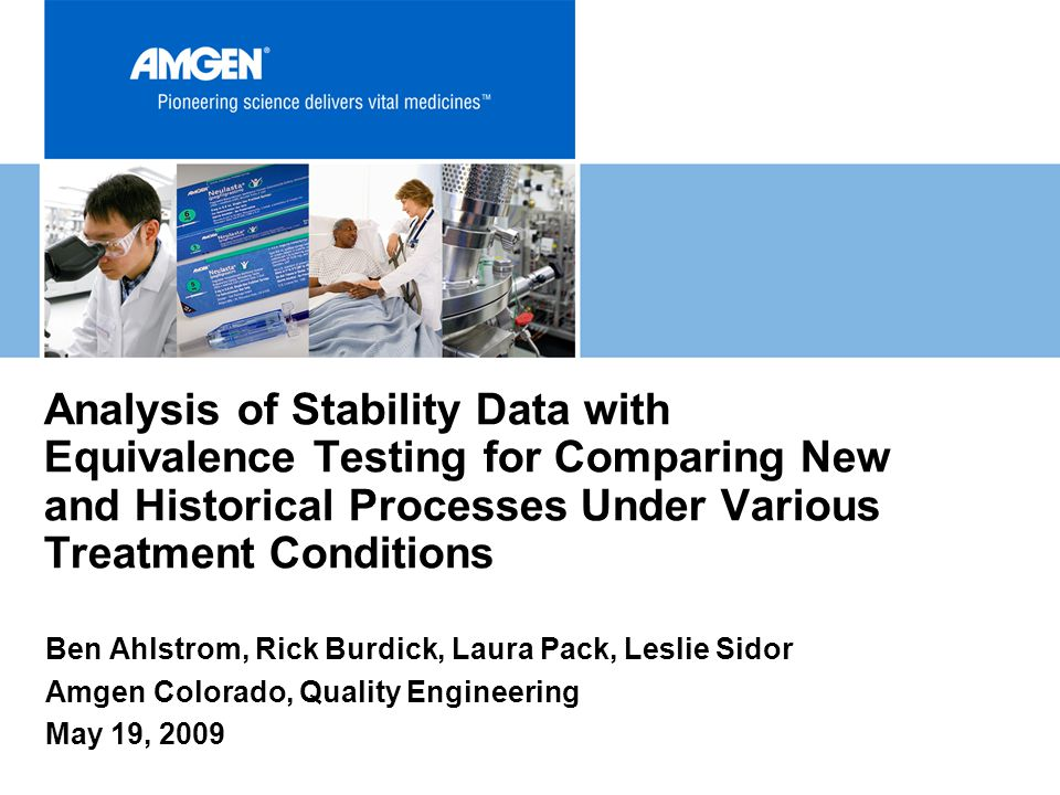 Analysis of Stability Data with Equivalence Testing for Comparing New and Historical Processes Under Various Treatment Conditions