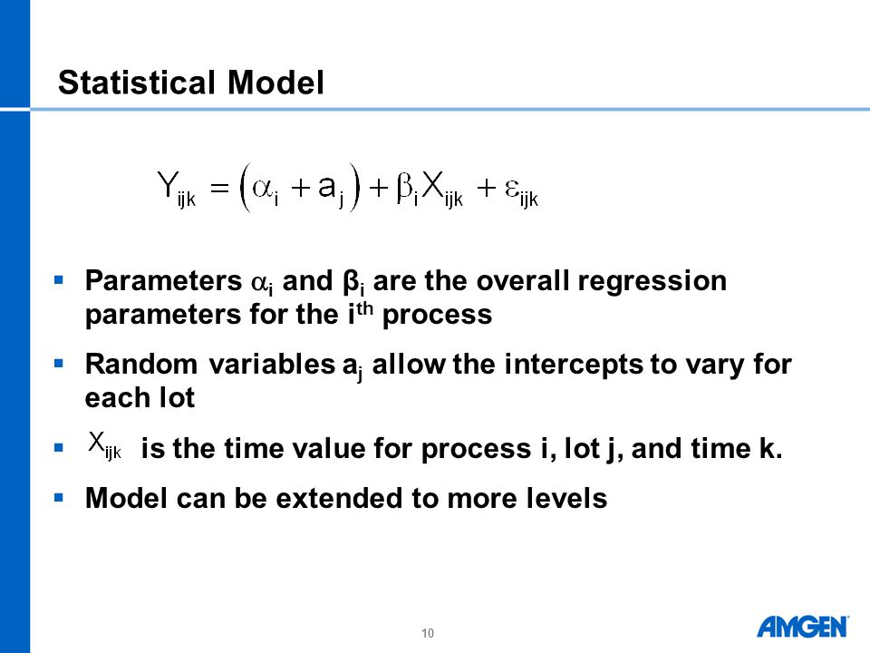 Statistical Model Parameters i and βi are the overall regression parameters for the ith process.