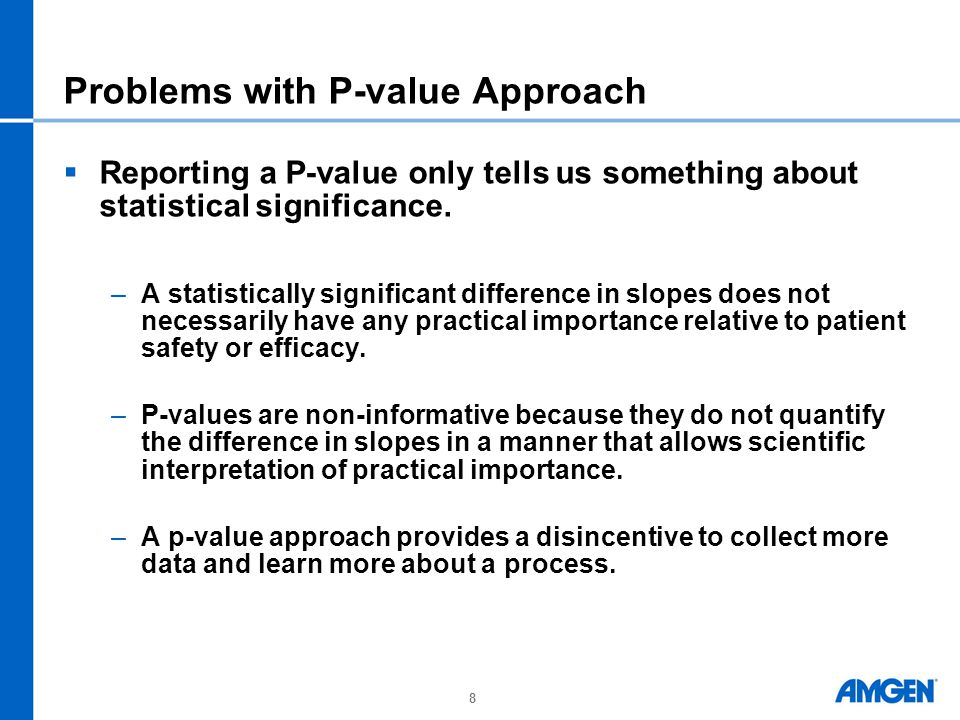 Problems with P-value Approach