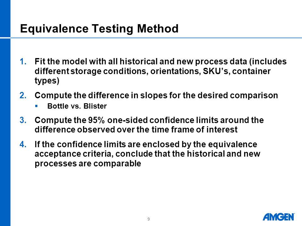 Equivalence Testing Method