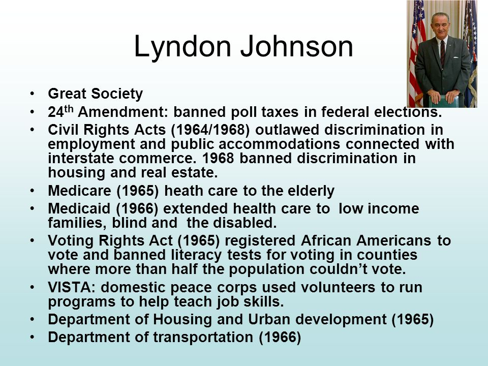 Lyndon Johnson Great Society