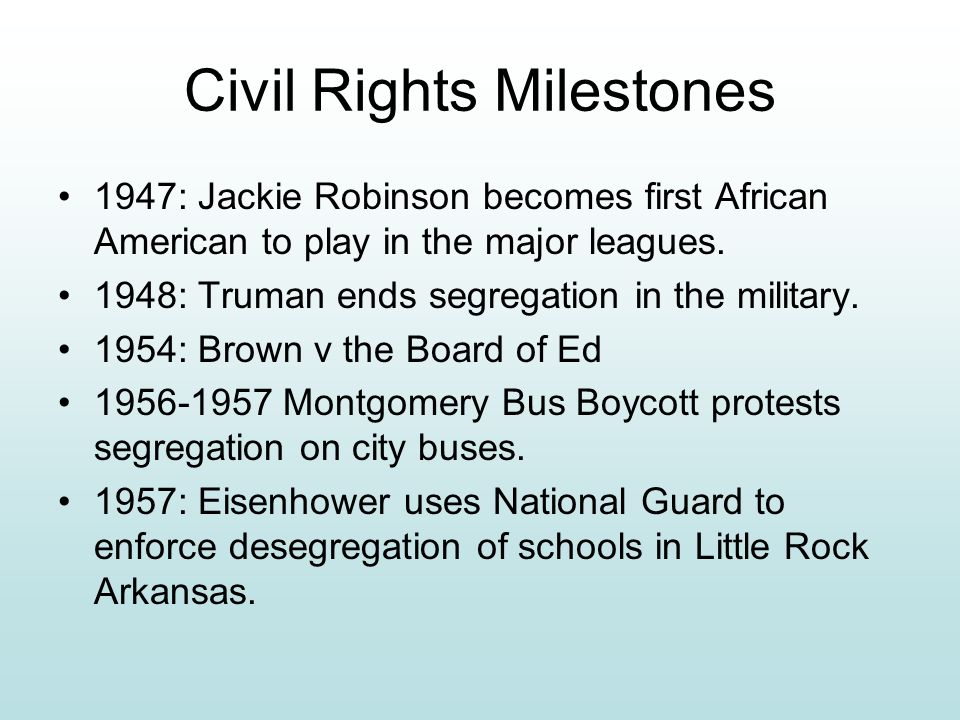 Civil Rights Milestones