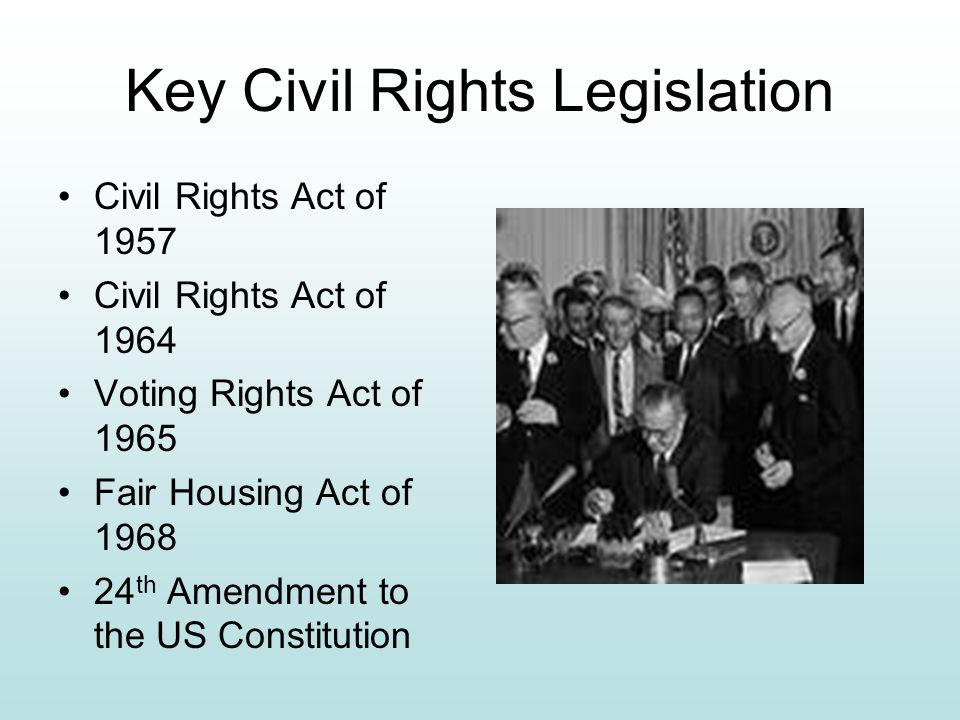 Key Civil Rights Legislation