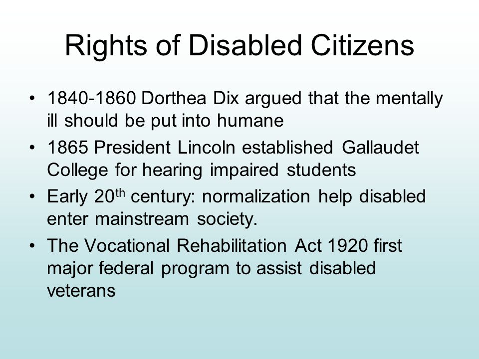 Rights of Disabled Citizens