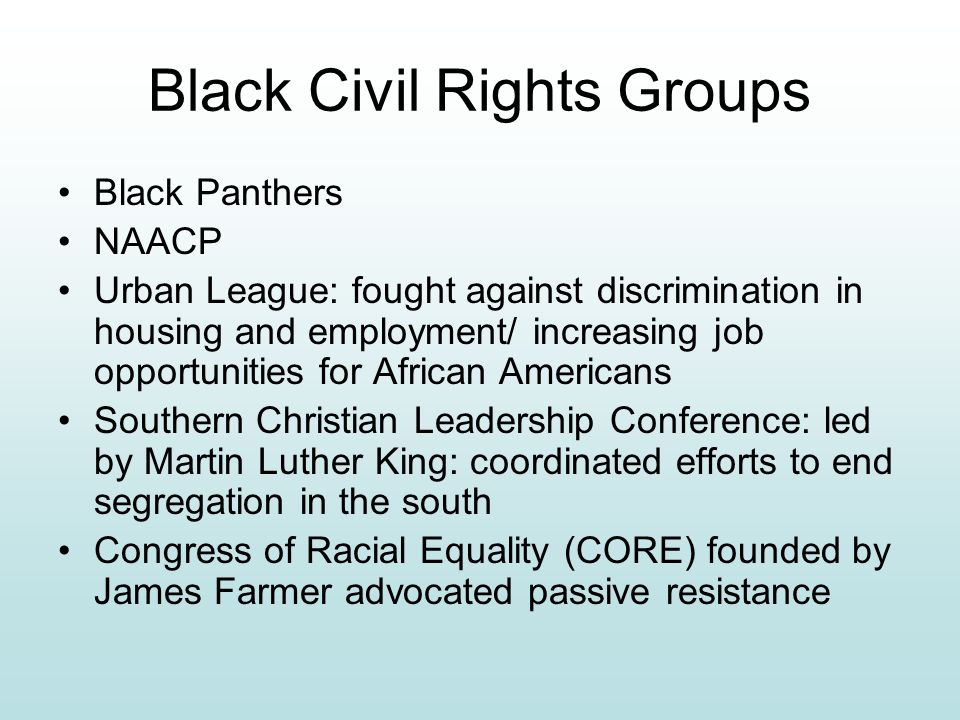 Black Civil Rights Groups
