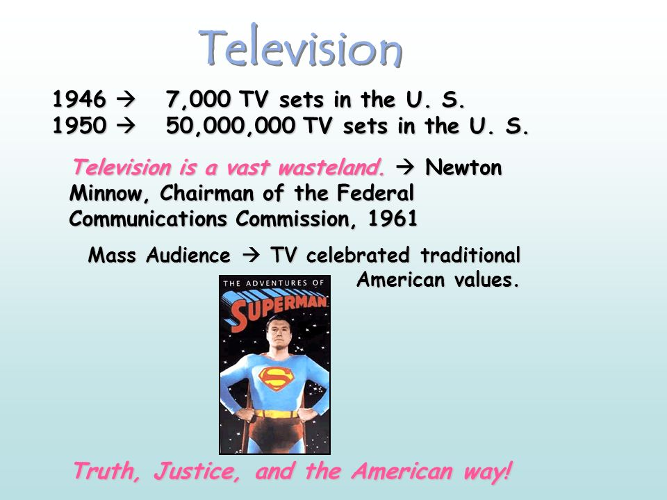 Television Truth, Justice, and the American way!