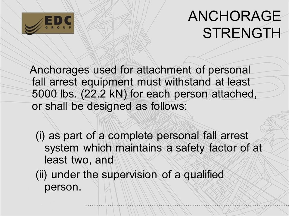 ANCHORAGE STRENGTH