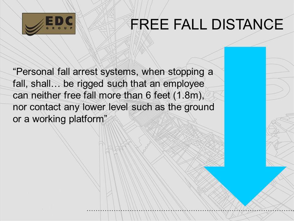 FREE FALL DISTANCE