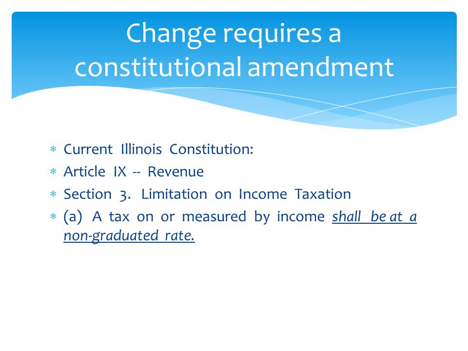 Change requires a constitutional amendment