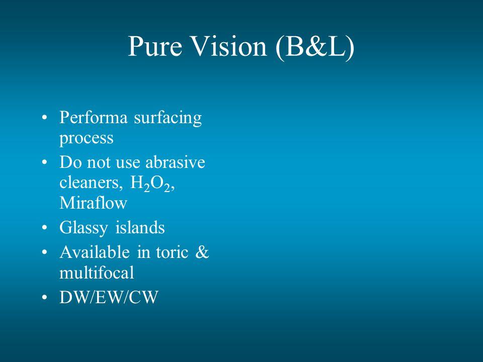 Pure Vision (B&L) Performa surfacing process