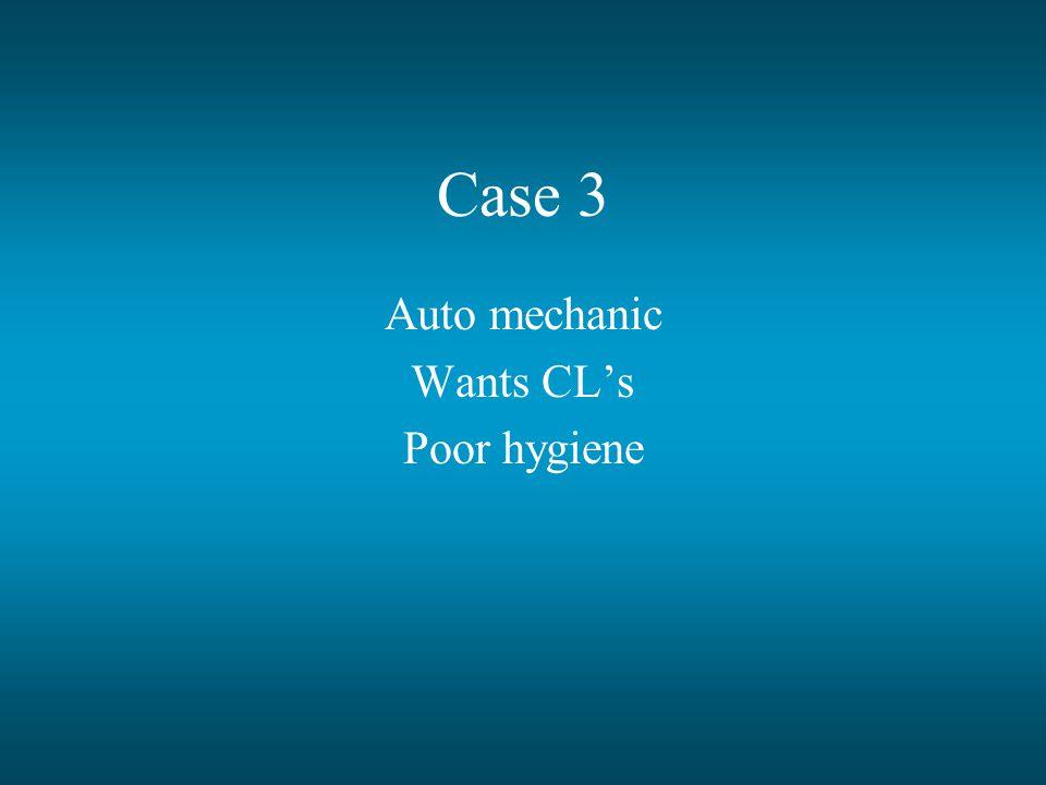 Auto mechanic Wants CL's Poor hygiene