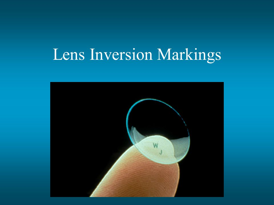 Lens Inversion Markings