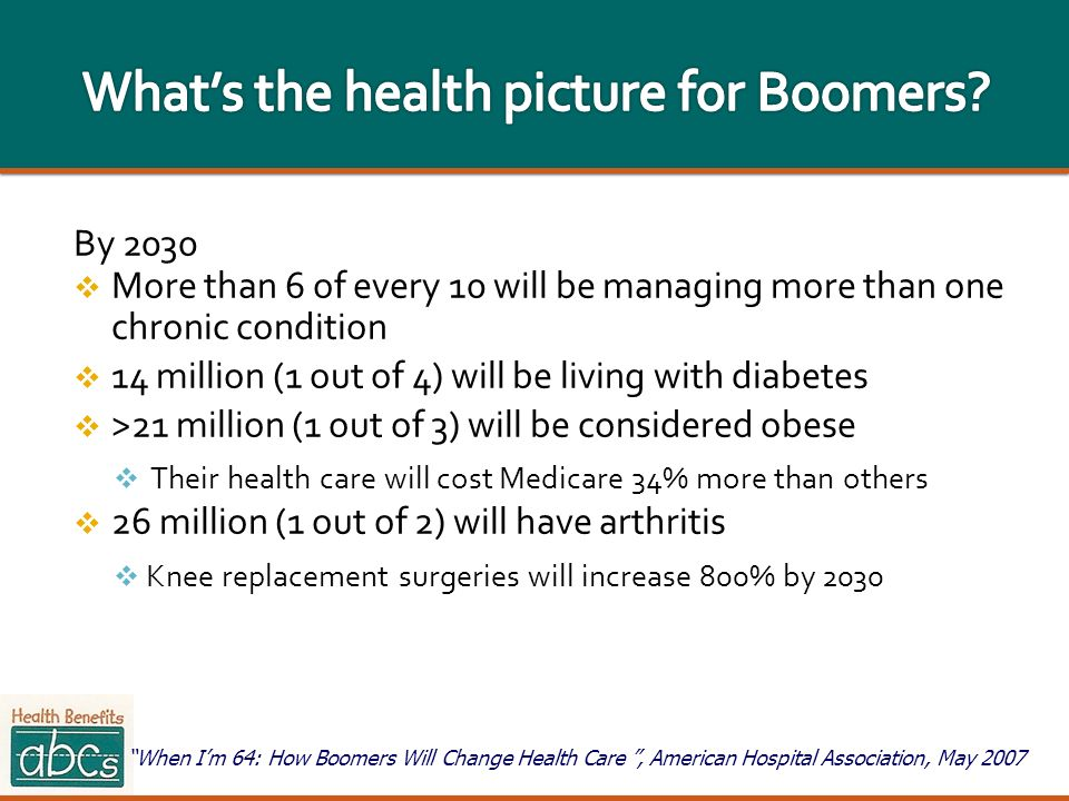 What's the health picture for Boomers